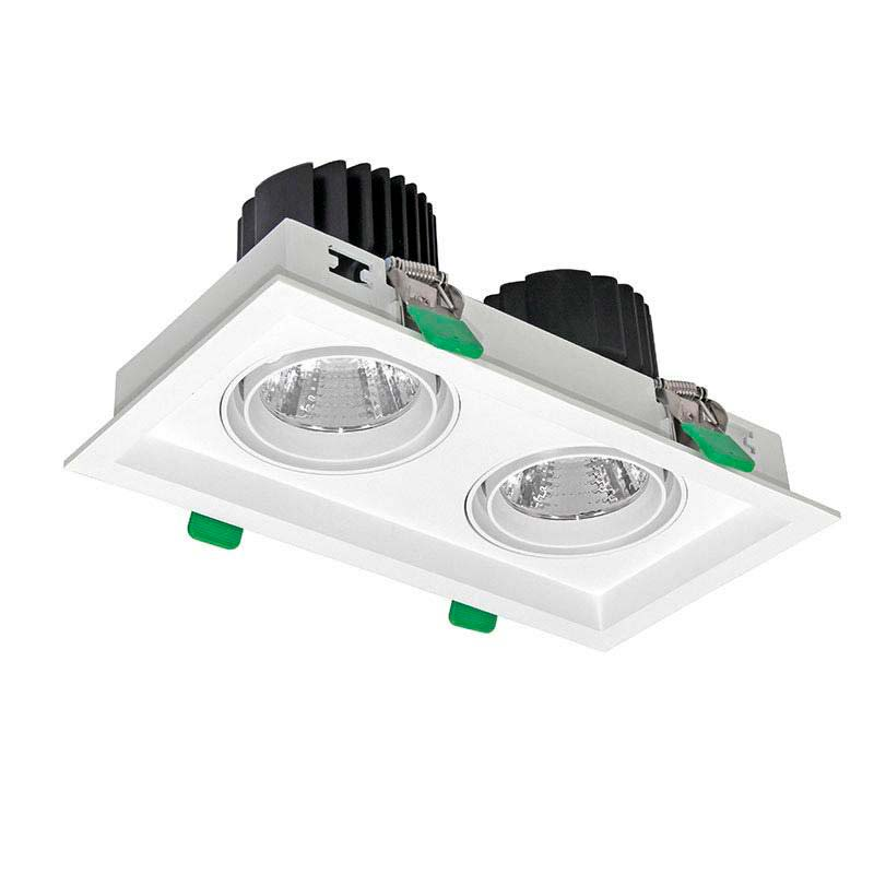 Downlight Led, KARDAN, 2 focos, 60W, Blanco cálido